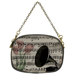 Vintage Music Design Chain Purses (two Sides)  by Valentinaart