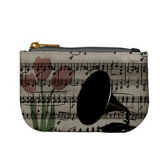 Vintage Music Design Mini Coin Purses by Valentinaart