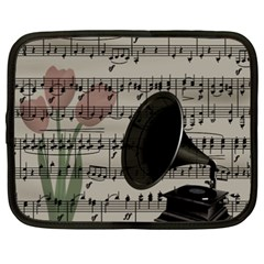 Vintage Music Design Netbook Case (xxl)  by Valentinaart