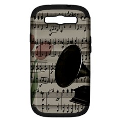 Vintage Music Design Samsung Galaxy S Iii Hardshell Case (pc+silicone) by Valentinaart