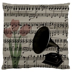 Vintage Music Design Standard Flano Cushion Case (one Side) by Valentinaart