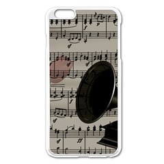 Vintage Music Design Apple Iphone 6 Plus/6s Plus Enamel White Case by Valentinaart