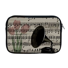Vintage music design Apple MacBook Pro 17  Zipper Case