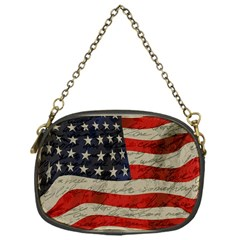 Vintage American Flag Chain Purses (one Side)  by Valentinaart