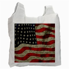 Vintage American Flag Recycle Bag (two Side)  by Valentinaart