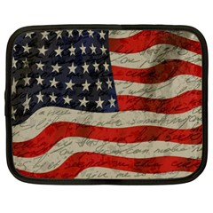 Vintage American Flag Netbook Case (xl)  by Valentinaart