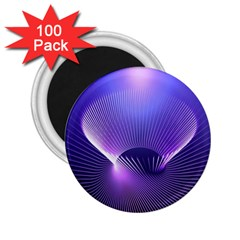 Abstract Fractal 3d Purple Artistic Pattern Line 2 25  Magnets (100 Pack)
