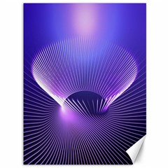 Abstract Fractal 3d Purple Artistic Pattern Line Canvas 36  X 48