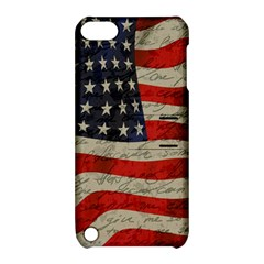 Vintage American Flag Apple Ipod Touch 5 Hardshell Case With Stand by Valentinaart