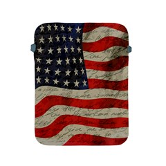 Vintage American Flag Apple Ipad 2/3/4 Protective Soft Cases by Valentinaart