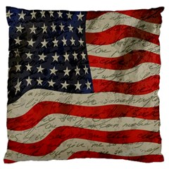 Vintage American Flag Standard Flano Cushion Case (one Side) by Valentinaart
