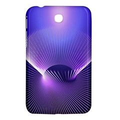 Abstract Fractal 3d Purple Artistic Pattern Line Samsung Galaxy Tab 3 (7 ) P3200 Hardshell Case  by Simbadda