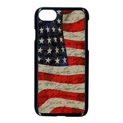 Vintage American Flag Apple Iphone 7 Seamless Case (black) by Valentinaart