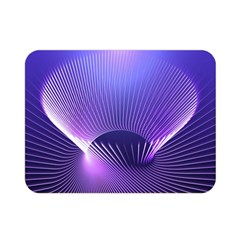 Abstract Fractal 3d Purple Artistic Pattern Line Double Sided Flano Blanket (mini)  by Simbadda
