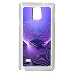 Abstract Fractal 3d Purple Artistic Pattern Line Samsung Galaxy Note 4 Case (white)