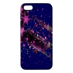 Stars Abstract Shine Spots Lines Apple Iphone 5 Premium Hardshell Case by Simbadda