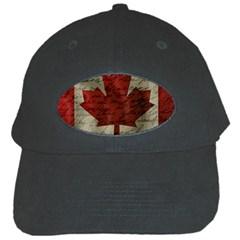 Canada Flag Black Cap by Valentinaart