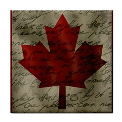 Canada Flag Tile Coasters by Valentinaart