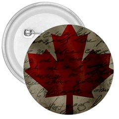 Canada Flag 3  Buttons by Valentinaart