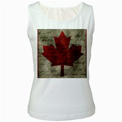 Canada Flag Women s White Tank Top by Valentinaart