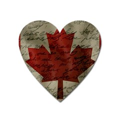 Canada Flag Heart Magnet by Valentinaart