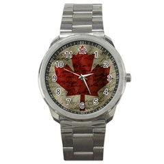 Canada Flag Sport Metal Watch by Valentinaart