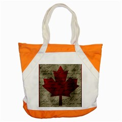 Canada Flag Accent Tote Bag by Valentinaart