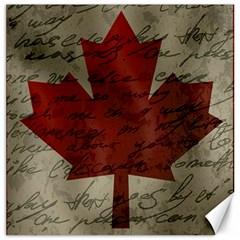 Canada Flag Canvas 12  X 12