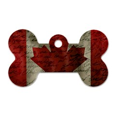 Canada Flag Dog Tag Bone (two Sides) by Valentinaart