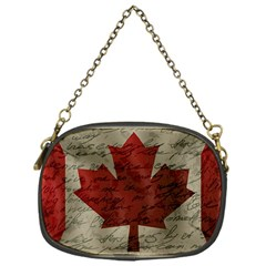 Canada Flag Chain Purses (one Side)  by Valentinaart