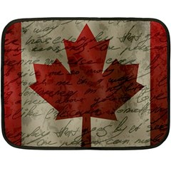 Canada Flag Fleece Blanket (mini) by Valentinaart