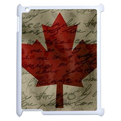 Canada Flag Apple Ipad 2 Case (white) by Valentinaart