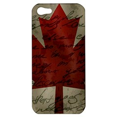Canada Flag Apple Iphone 5 Hardshell Case by Valentinaart
