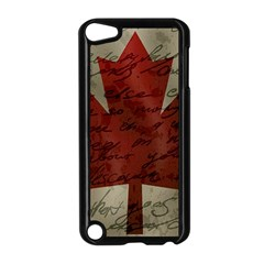 Canada Flag Apple Ipod Touch 5 Case (black) by Valentinaart
