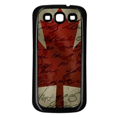 Canada Flag Samsung Galaxy S3 Back Case (black) by Valentinaart