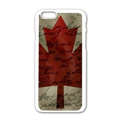 Canada Flag Apple Iphone 6/6s White Enamel Case by Valentinaart