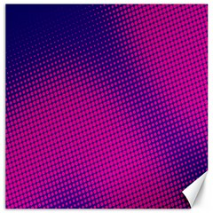 Retro Halftone Pink On Blue Canvas 12  X 12   by Simbadda