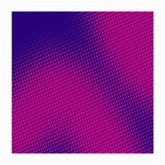 Retro Halftone Pink On Blue Medium Glasses Cloth (2 Side) by Simbadda