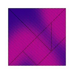 Retro Halftone Pink On Blue Acrylic Tangram Puzzle (6  X 6 ) by Simbadda