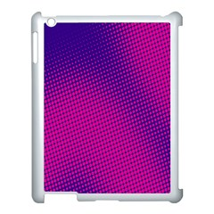Retro Halftone Pink On Blue Apple Ipad 3/4 Case (white) by Simbadda