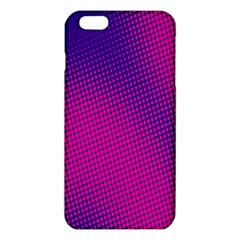Retro Halftone Pink On Blue Iphone 6 Plus/6s Plus Tpu Case by Simbadda