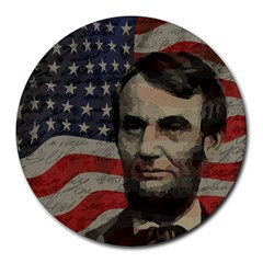 Lincoln day  Round Mousepads by Valentinaart