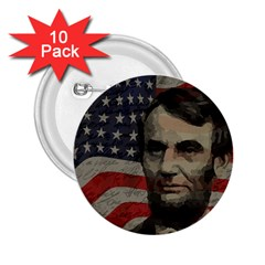 Lincoln Day  2 25  Buttons (10 Pack)  by Valentinaart