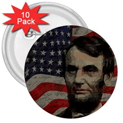 Lincoln Day  3  Buttons (10 Pack)  by Valentinaart