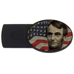 Lincoln Day  Usb Flash Drive Oval (4 Gb) by Valentinaart