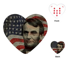 Lincoln Day  Playing Cards (heart)  by Valentinaart