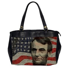 Lincoln Day  Office Handbags (2 Sides)  by Valentinaart