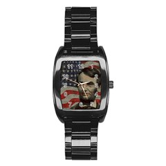 Lincoln Day  Stainless Steel Barrel Watch by Valentinaart