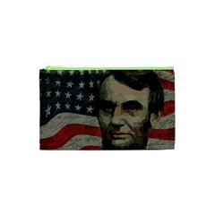 Lincoln Day  Cosmetic Bag (xs) by Valentinaart