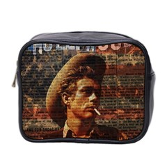 James Dean   Mini Toiletries Bag 2 Side by Valentinaart